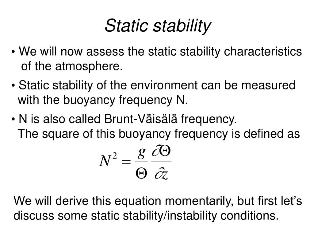 Static stability