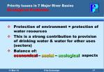 priority issues in 7 major river basins ecological problems