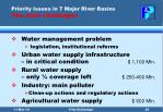 priority issues in 7 major river basins the main challenges