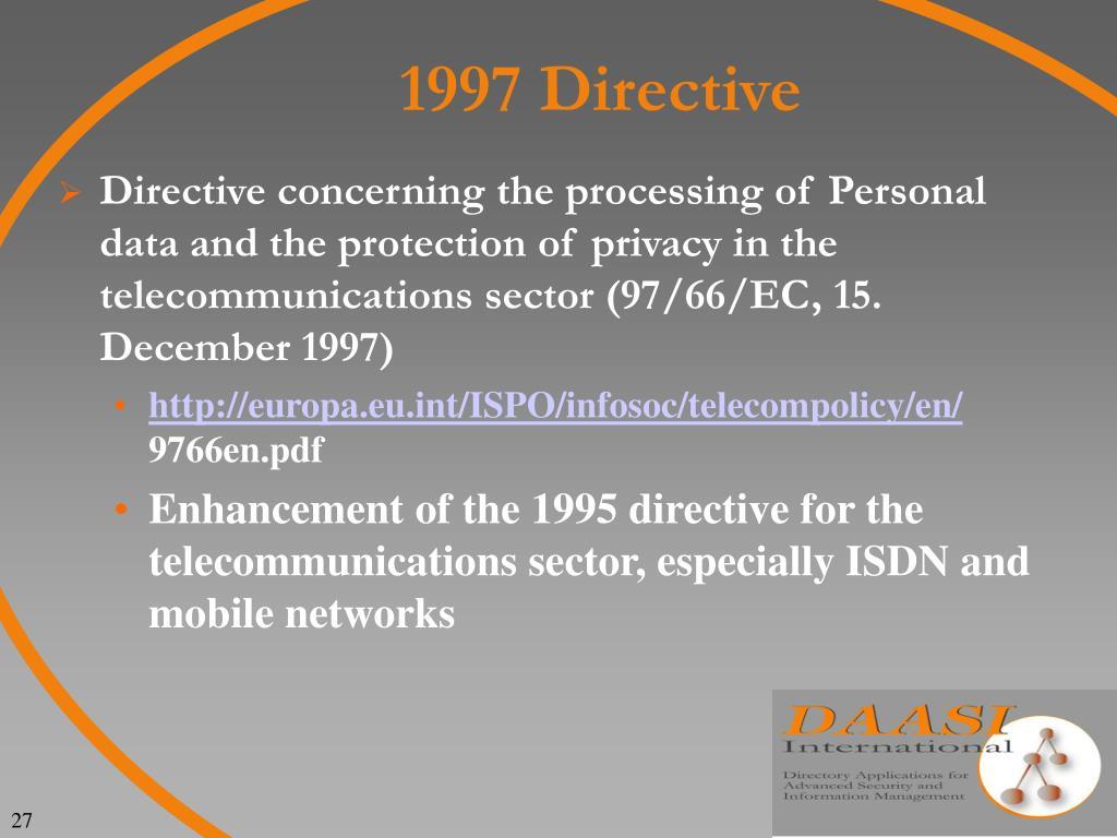 1997 Directive