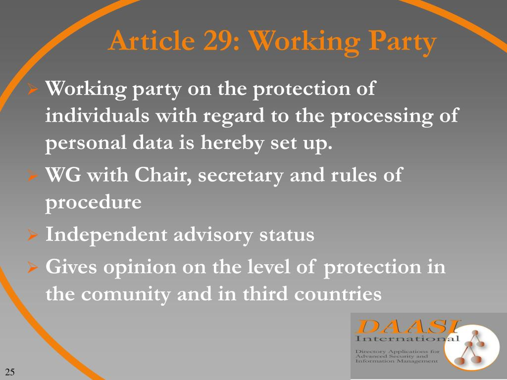 Article 29: Working Party
