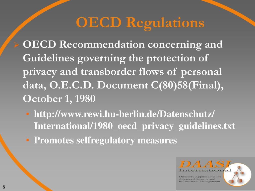 OECD Regulations