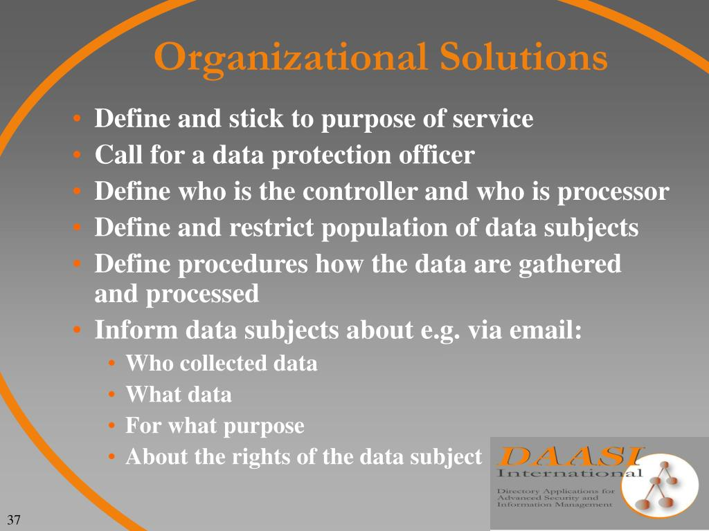 Organizational Solutions