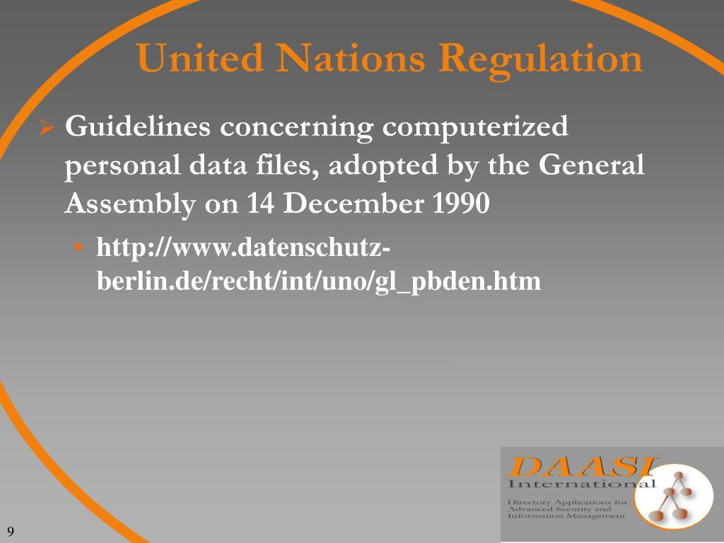 United Nations Regulation