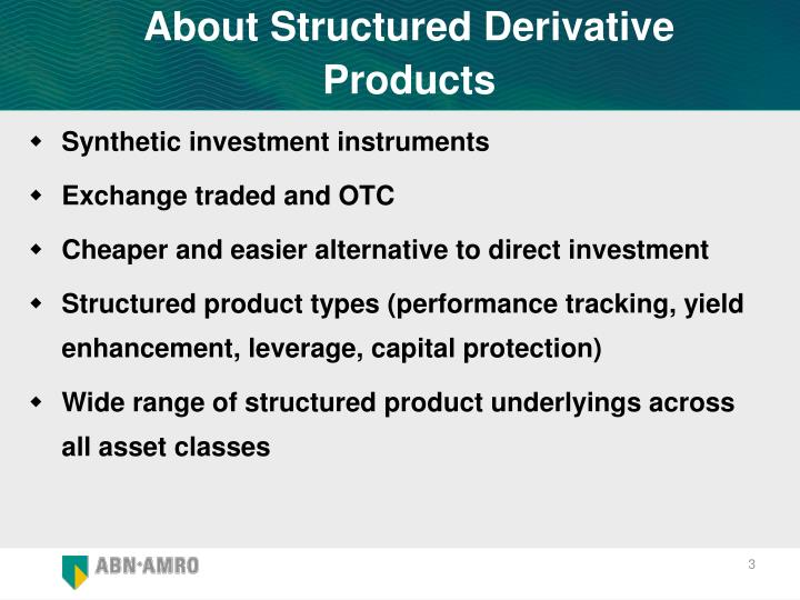 About Structured Derivative Products