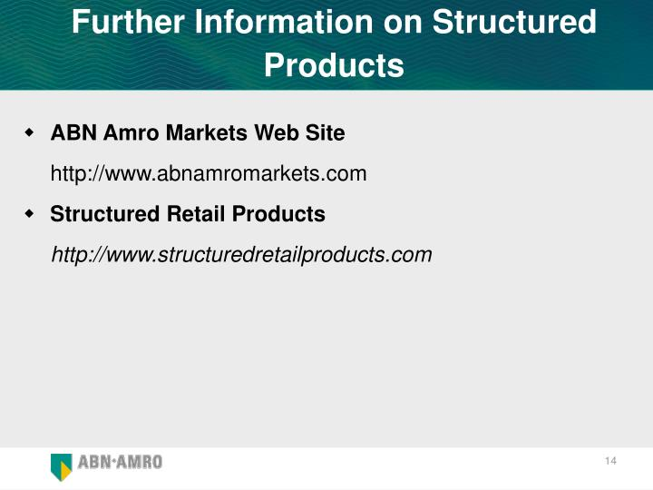Further Information on Structured Products