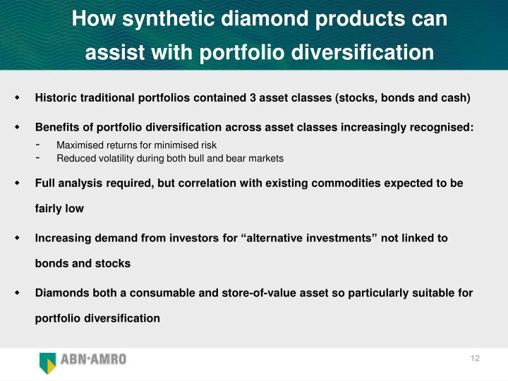 How synthetic diamond products can assist with portfolio diversification