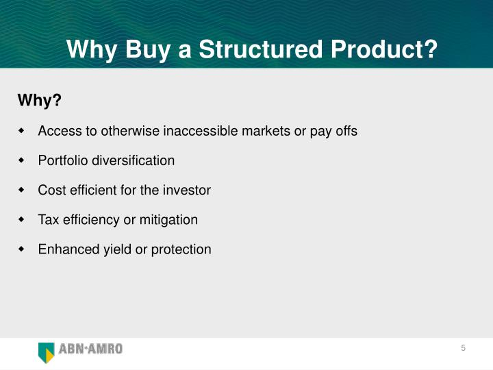 Why Buy a Structured Product?