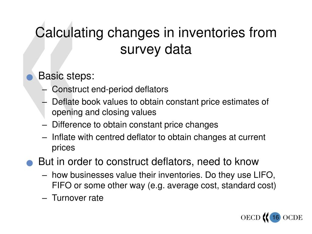 Calculating changes in inventories from survey data