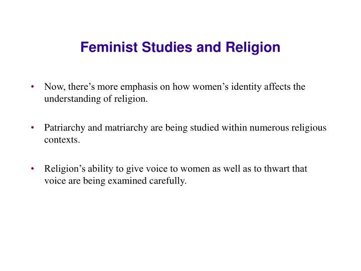 Feminist Studies and Religion