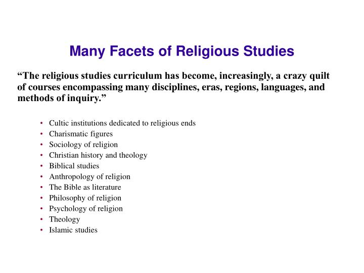 Many Facets of Religious Studies