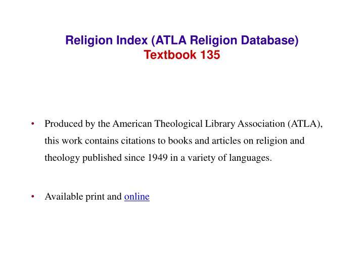 Religion Index (ATLA Religion Database)