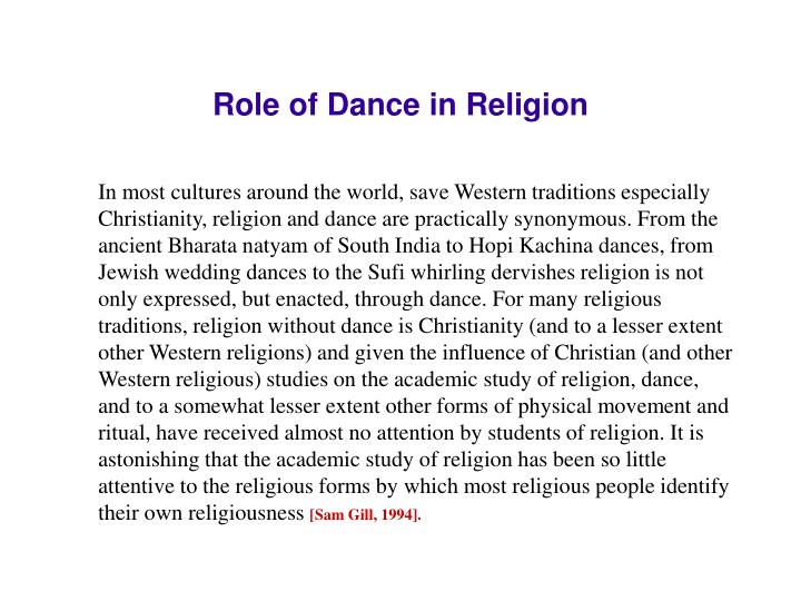Role of Dance in Religion
