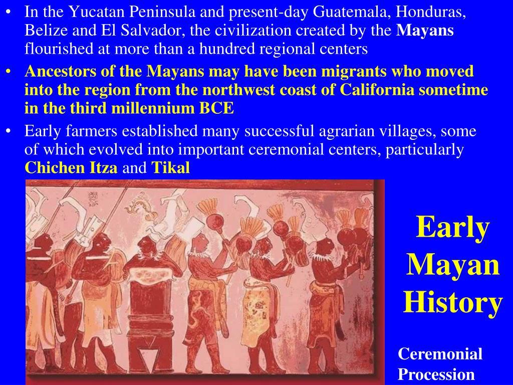 Early Mayan History