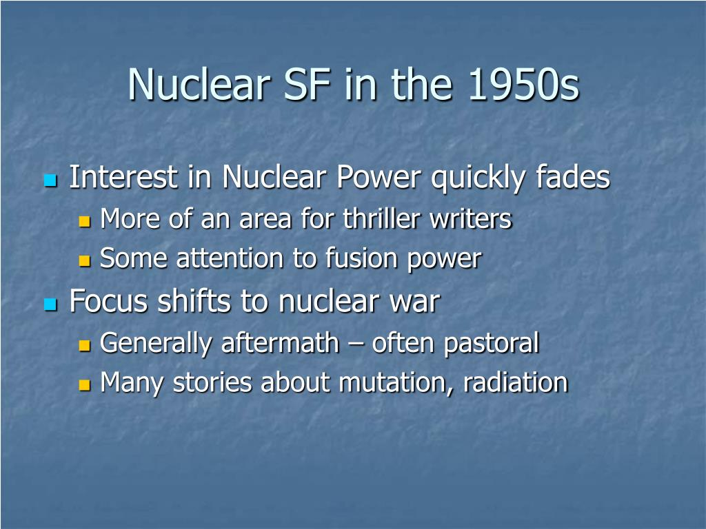 Nuclear SF in the 1950s