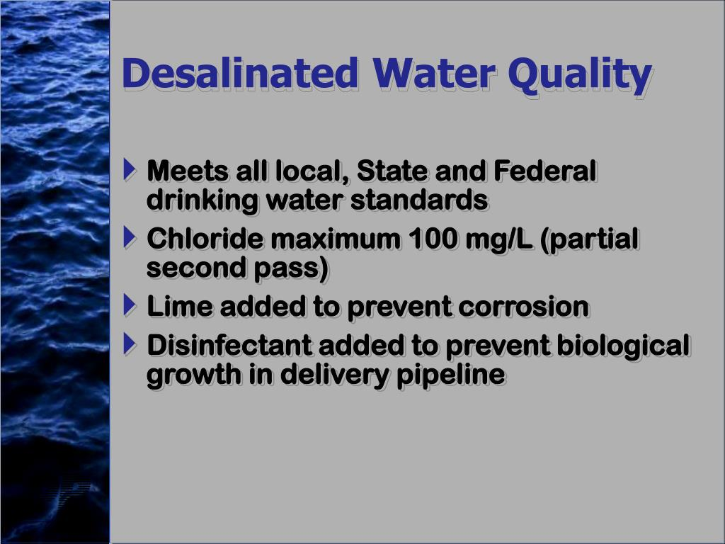 Desalinated Water Quality