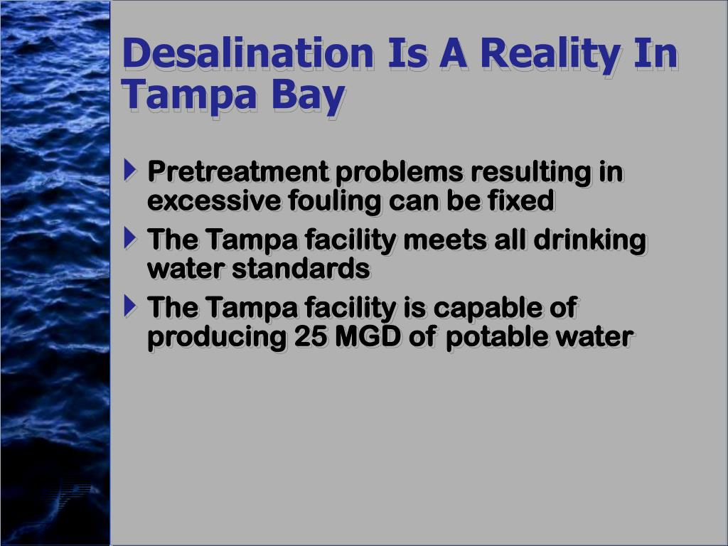Desalination Is A Reality In Tampa Bay