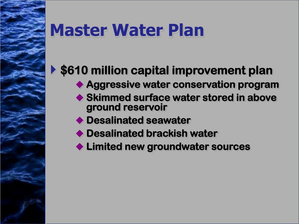 Master Water Plan