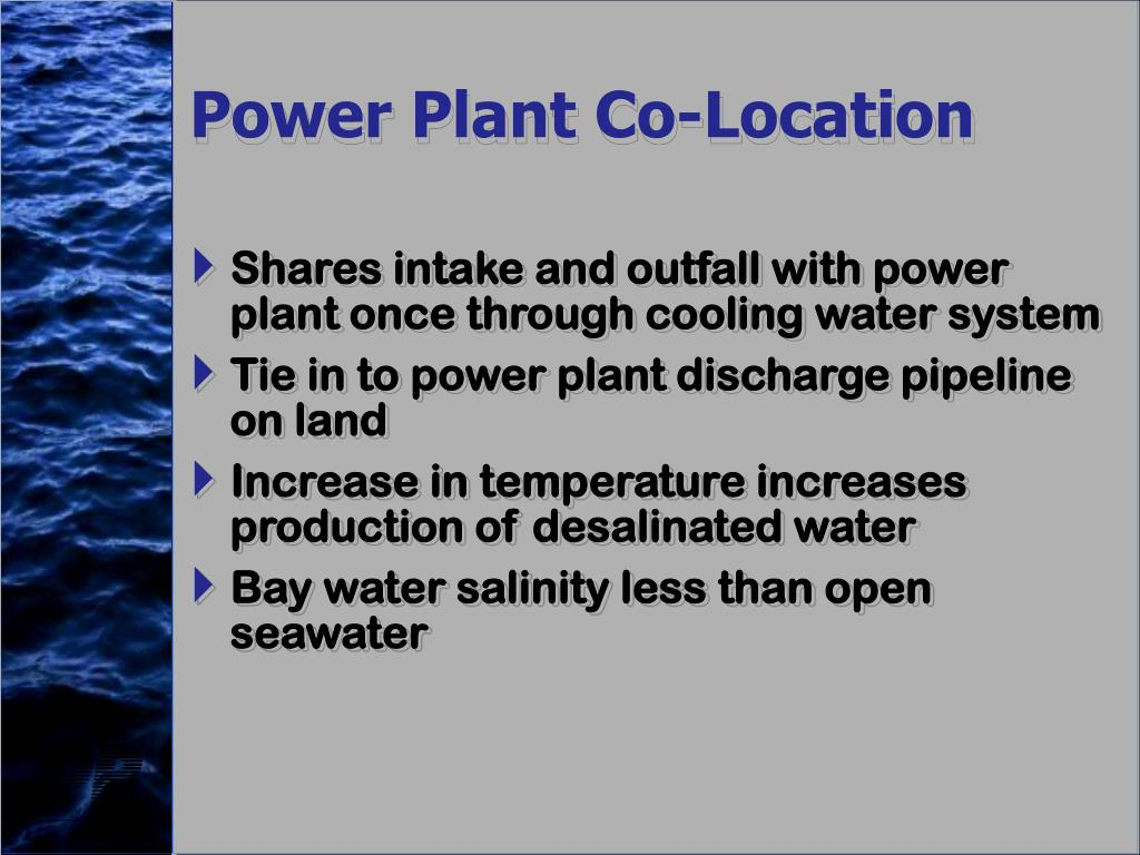 Power Plant Co-Location