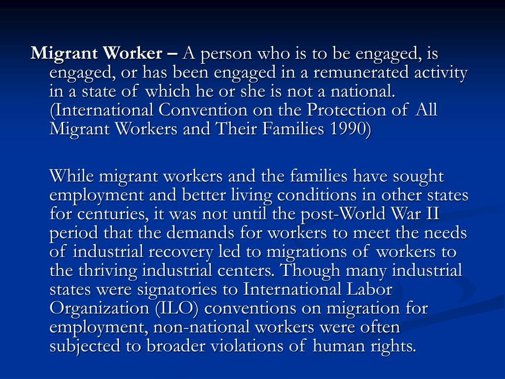 Migrant Worker –