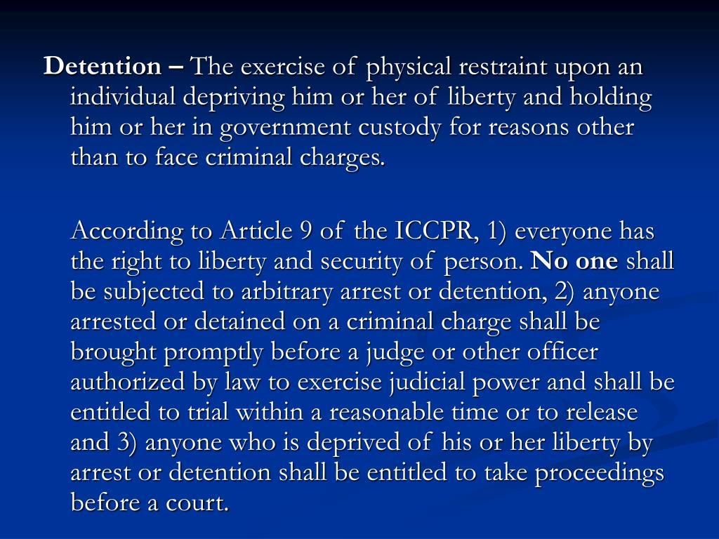 Detention –