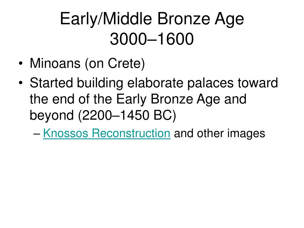 Early/Middle Bronze Age