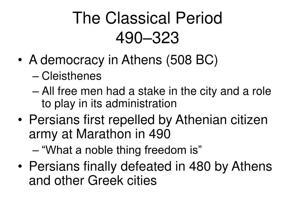 The Classical Period