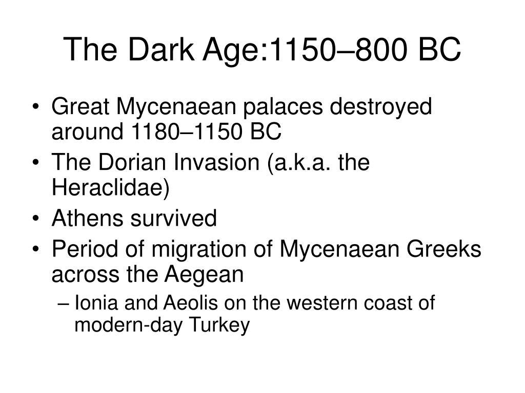 The Dark Age:1150