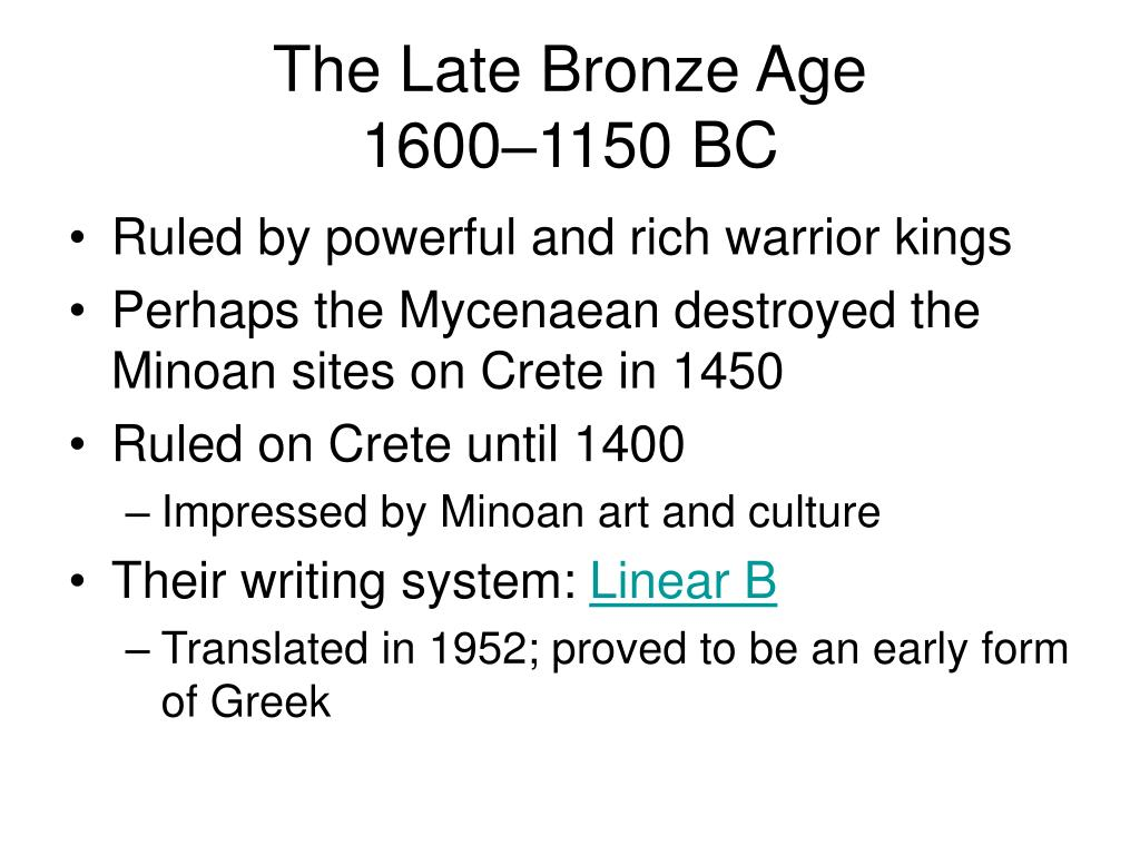 The Late Bronze Age