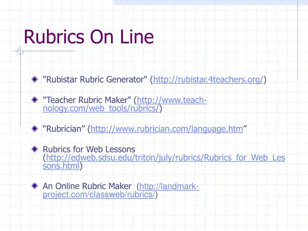 Rubrics On Line