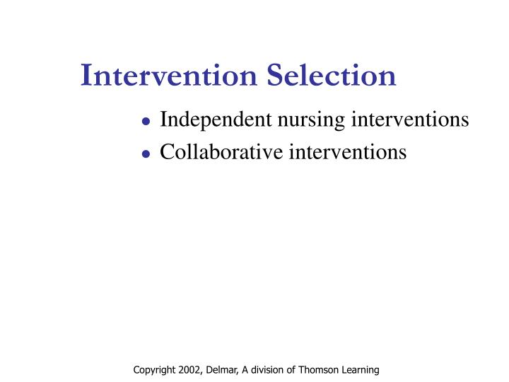 Intervention Selection