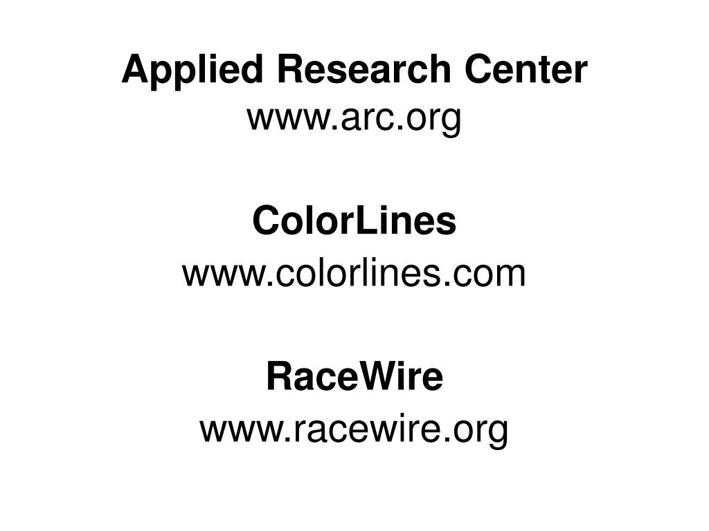 Applied Research Center