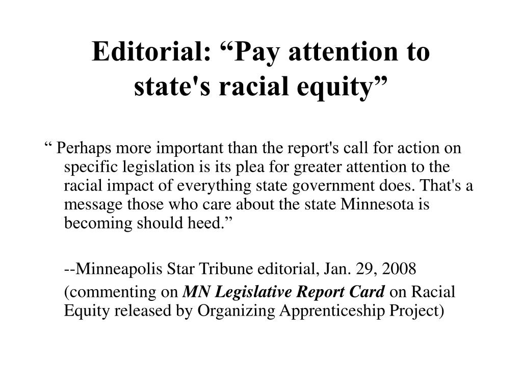 """Editorial: """"Pay attention to"""