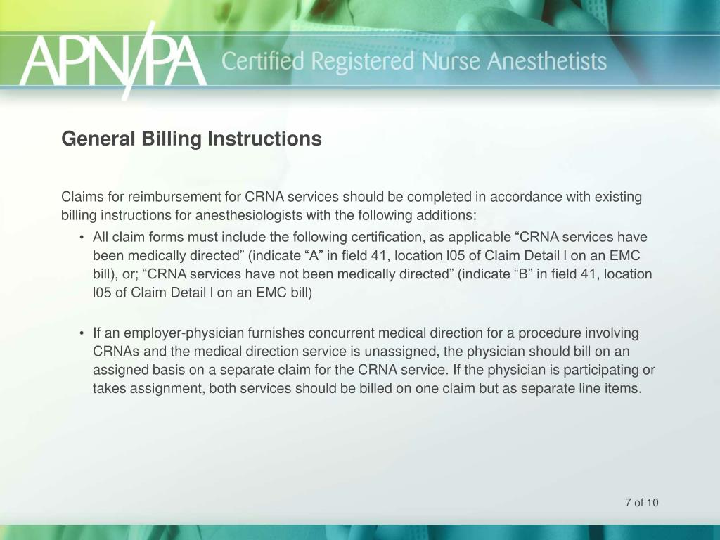 General Billing Instructions