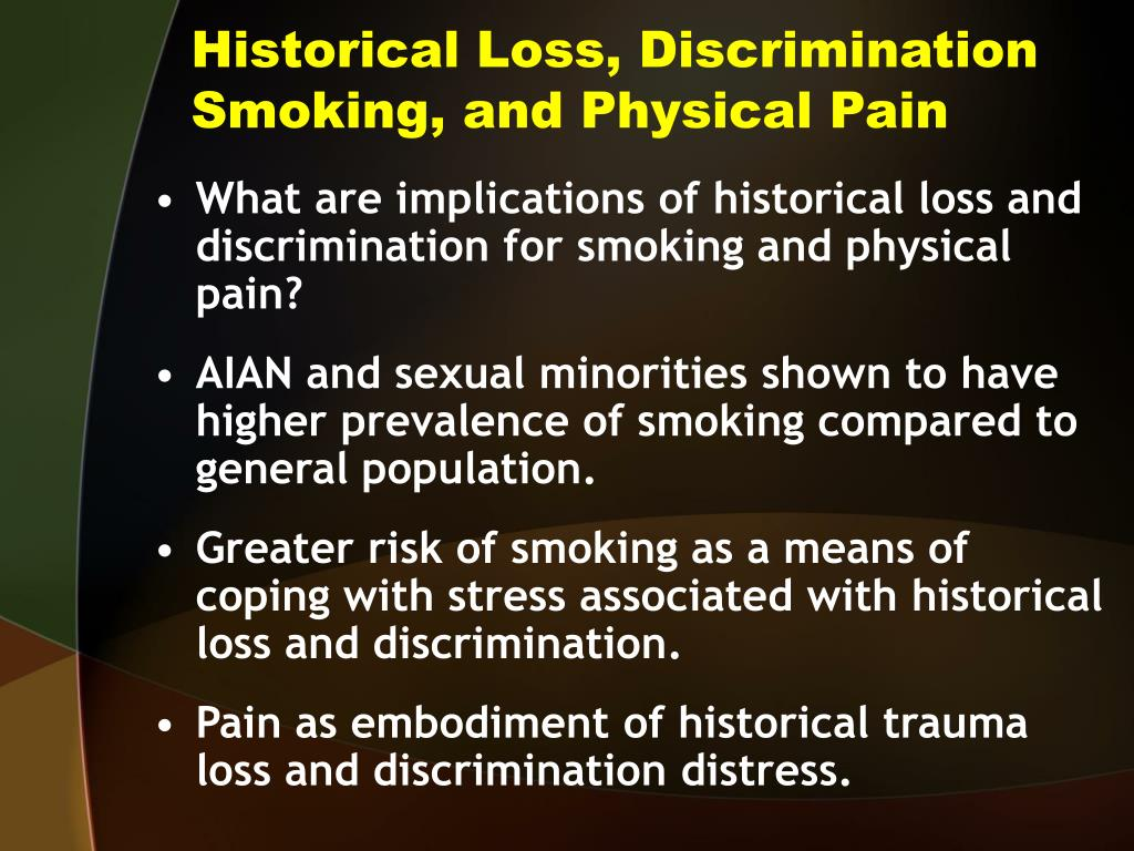 Historical Loss, Discrimination Smoking, and Physical Pain