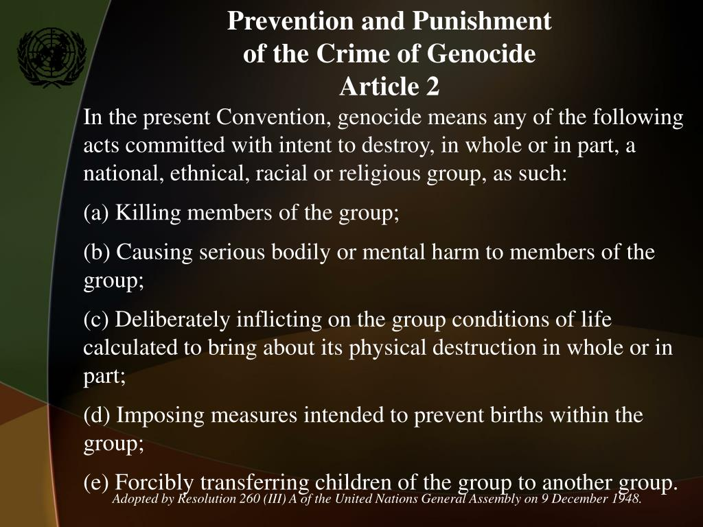 Prevention and Punishment
