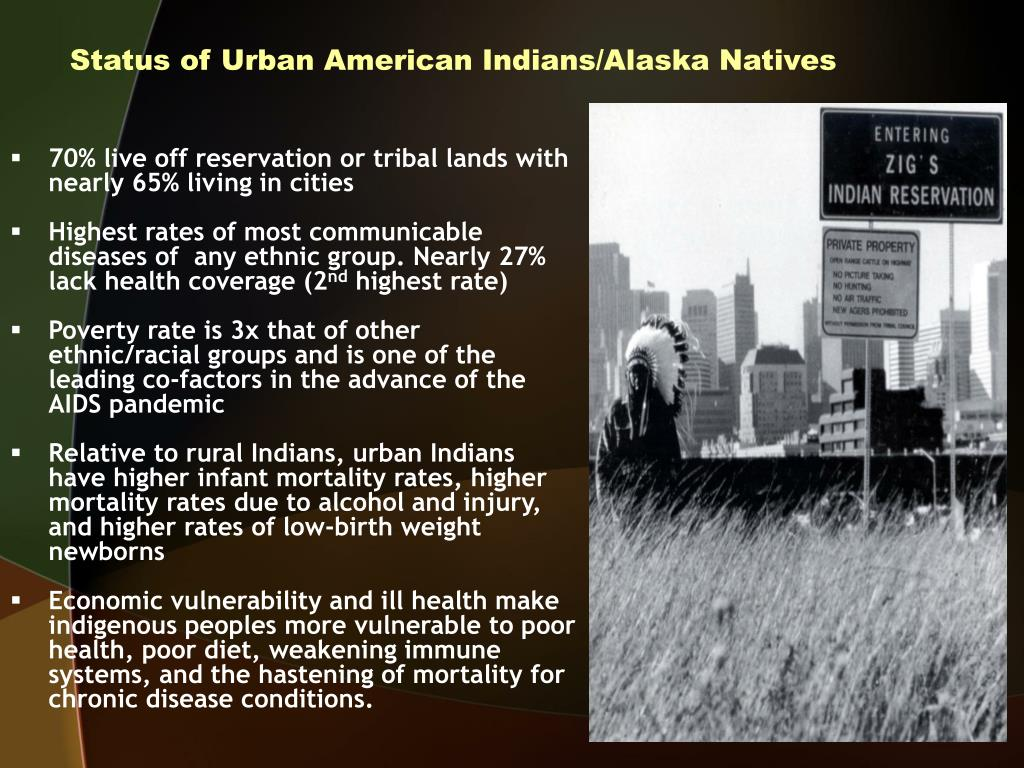 Status of Urban American Indians/Alaska Natives