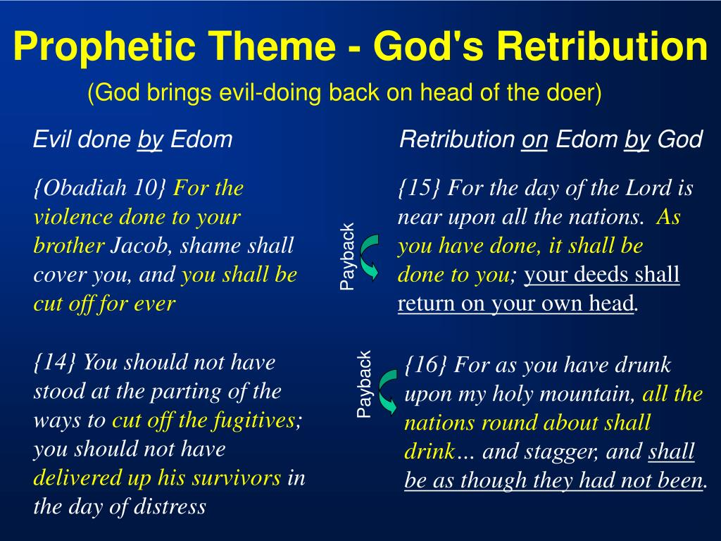 Prophetic Theme - God's Retribution