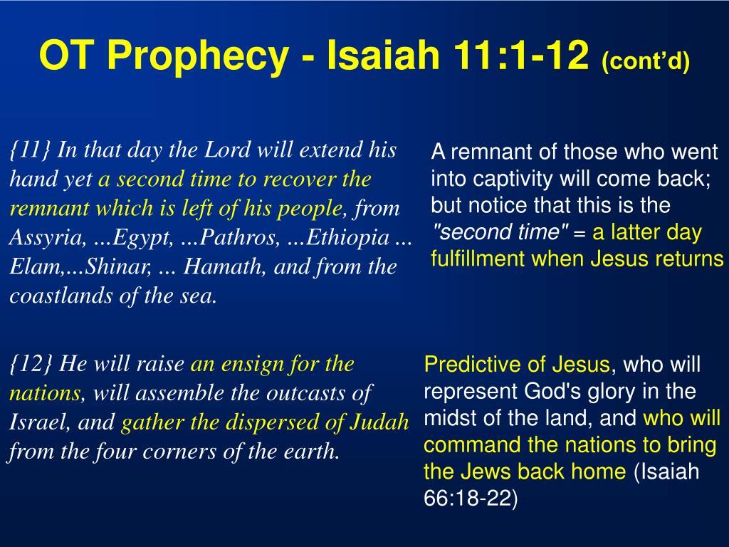 OT Prophecy - Isaiah 11:1-12