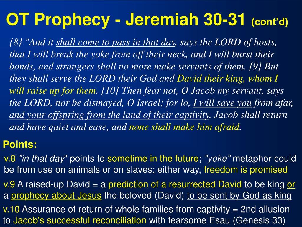 OT Prophecy - Jeremiah 30-31