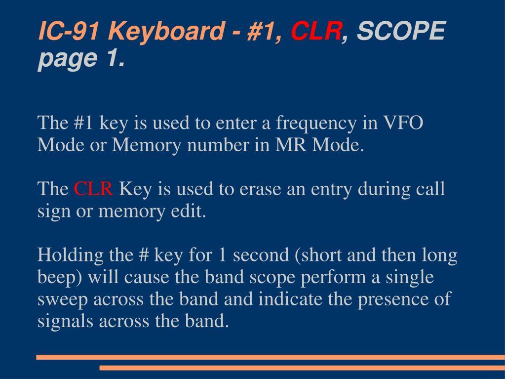 IC-91 Keyboard - #1,