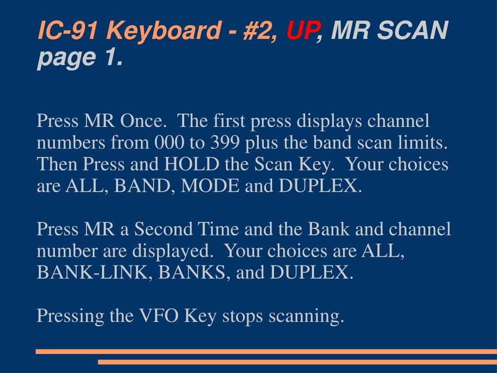 IC-91 Keyboard - #2,