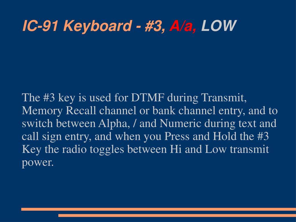 IC-91 Keyboard - #3,