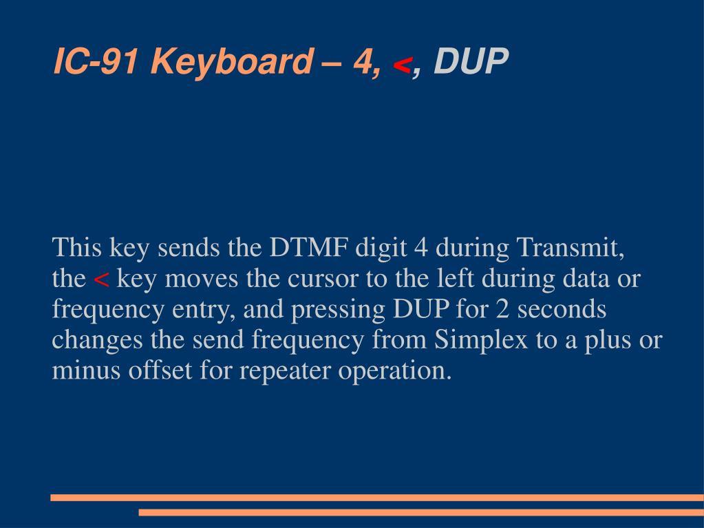 IC-91 Keyboard – 4,