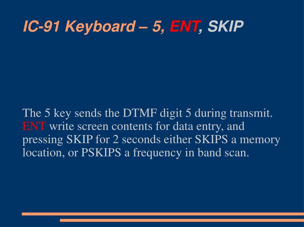 IC-91 Keyboard – 5,