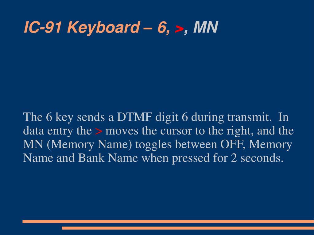 IC-91 Keyboard – 6,