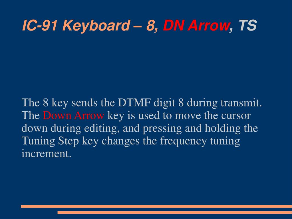 IC-91 Keyboard – 8,