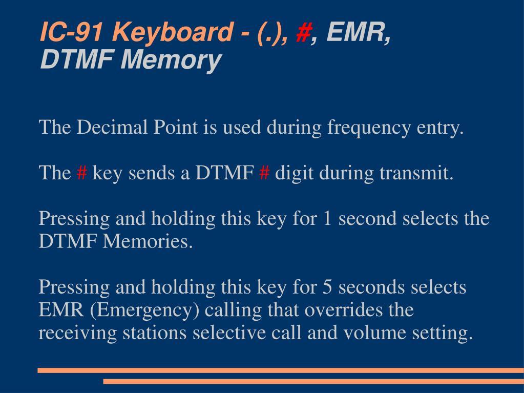 IC-91 Keyboard - (.),