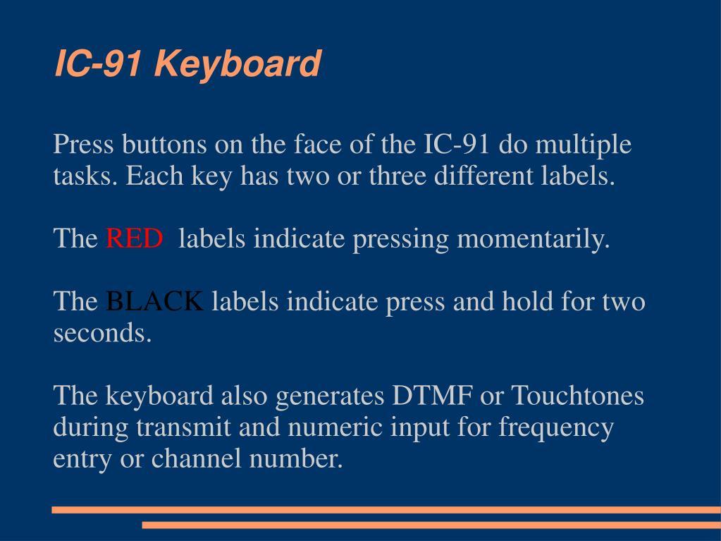IC-91 Keyboard