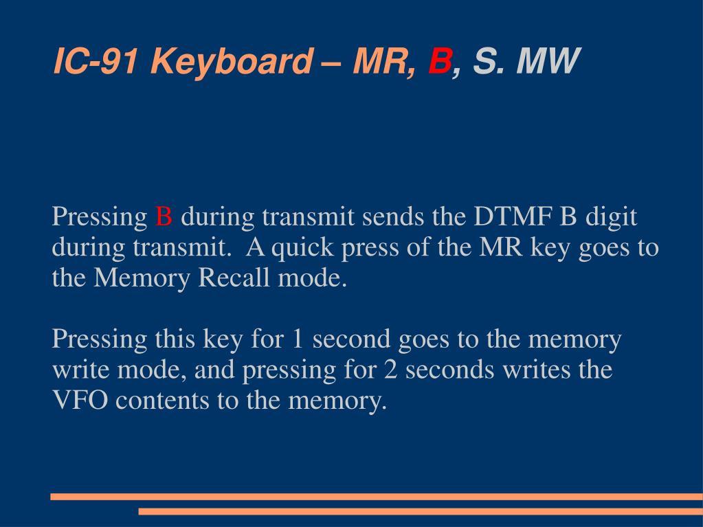 IC-91 Keyboard – MR,